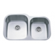 DUL3221-9 Offset Double Bowl Stainless Steel Kitchen Sink